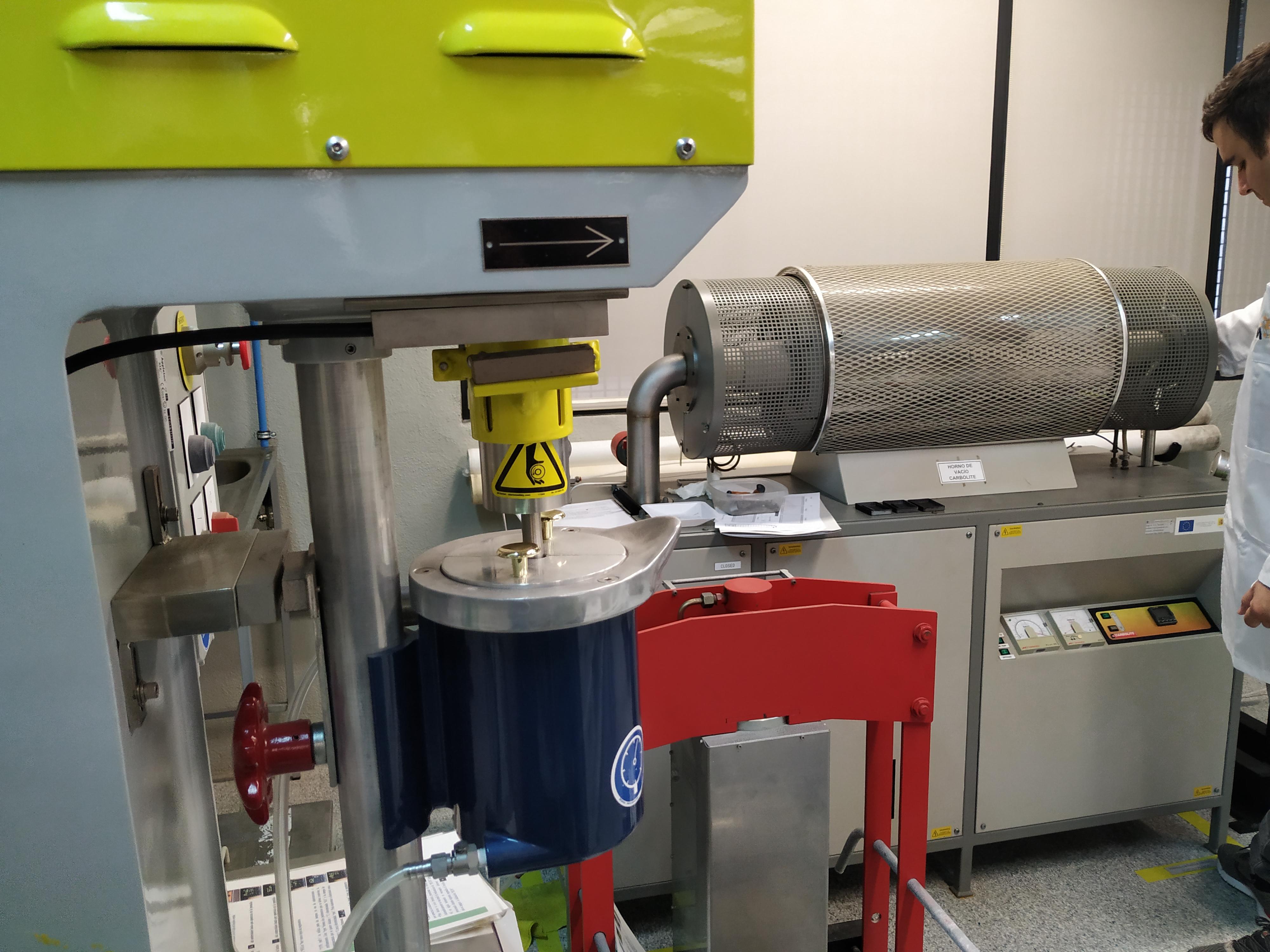 Sinterización de materiales a altas temperaturas